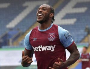 Antonio Confidence Of Golden Boots Race As His Double Helped The Hammers Thrash 10-Man Leicester