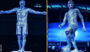 Man City Unveil The Statues Of Their Legands