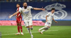 arim Benzema Fight Back With A Hat-Trick To Help Madrid Thrashed Celta Vigo In Their First Game At The Bernabeu In 560 days