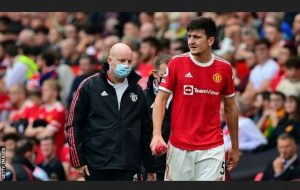 Harry Maguire Will Out For 'Few Weeks' With A Calf Injury