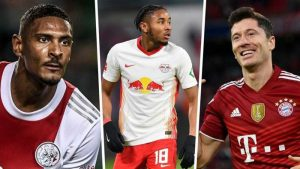 Haller Contests With  Lewandowski And Nkunku For Champions League Prize