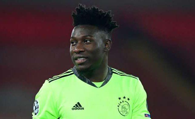 Onana Sets To Leave Ajax On A Free Transfer.