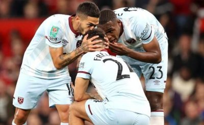 West Ham Revenge As They Knocked Man Utd Out Of Carabao Cup