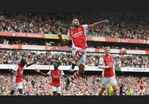 Arsenal Defeat Norwish To Claim First 3Point Of The Season. Thanks to Aubameyang Tap In