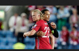 He's Good, So To Speak': Haaland Reaveals What He Did To Van Dijk's During Norway vs Netherlands