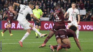 Achraf Hakimi Scored A damatic injury-time goal as Paris St-Germain
