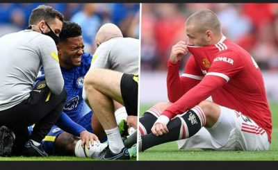 Man Utd & Chelsea Both Suffer Injury Blows As Luke Shaw & Reece James Replaced Before The Half Time