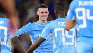 ester City Came From Behind To Thrash League One Wycombe By 6-1 Riyad Mahrez With Brace