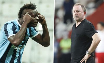 Mario Balotelli Pointed His Head As He Celebrates In Front Of The Besiktas Coach Who Said He Had 'No Brain'