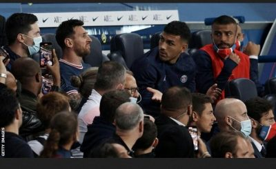 All Eyes On Messi As He Was Replaced In His Home Debut For Paris St-Germain