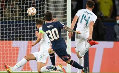 Lionel Messi Scored His First Goal As Paris St-Germain Defeat Man City By 2-0 In Champions League Group Game.