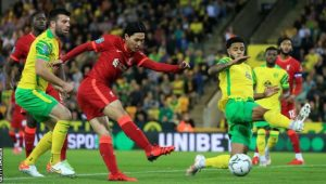 Takumi Minamino Scored Brace As Liverpool Knocked Norwich Out Of Carabao Cup By 0-3