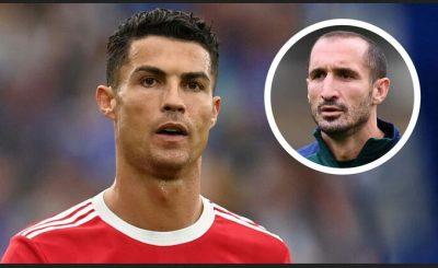 Chiellini: 'It Would've Been Better If Ronaldo Had Left Earlier'.