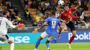 Spain Ended Italy's World-Record 37-Game Unbeaten Run At The San Siro To Reach The Nations League Final.