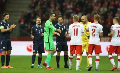 Lukasz Fabianski End His Poland Career As He Left The Pitch To A Standing Ovation And A Guard Of Honour in their 5-0 Win Over San Marino.