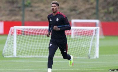 Manchester United Forward Marcus Rashford Returns To Full Training